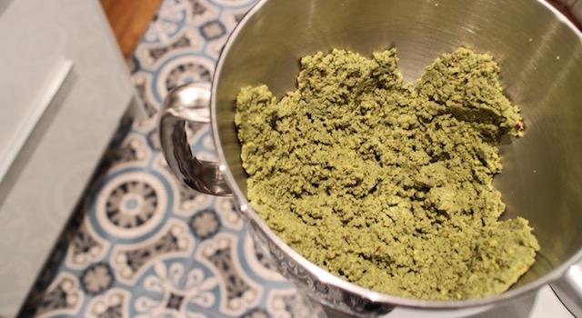 appareil homogène - Croustillant pistache