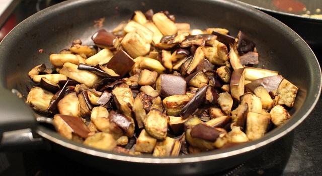 aubergines cuites et grillées - Recette Salade bien dans ma tête et dans mon corps