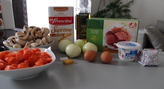 ingrédients Blanquette de veau comme Maman