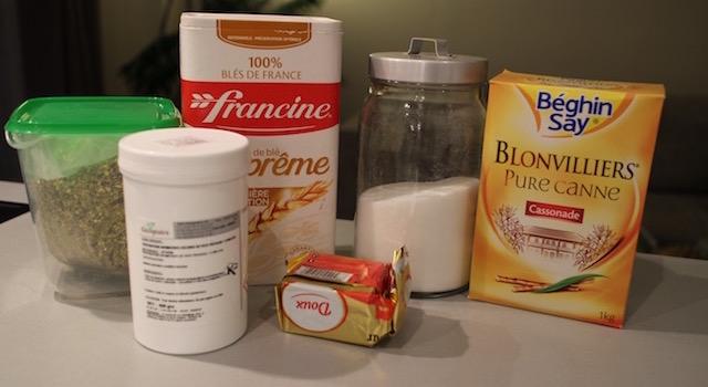 ingrédients Croustillant pistache