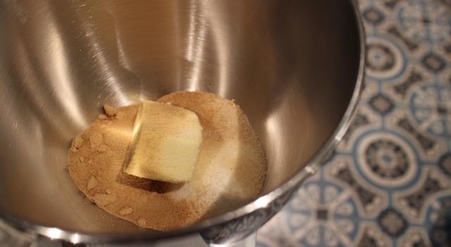 sabler le beurre et le sucre - Croustillant pistache