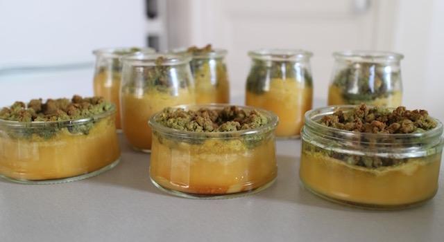 servir les crumbles bien frais - Crumble citron - pistache
