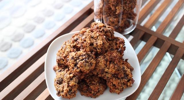biscuits parfaits pour la récupération - Cookies des sportifs banane, chocolat, noisette