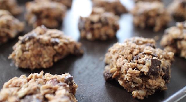 cookies maison épais prets à vuire - Cookies des sportifs banane, chocolat, noisette