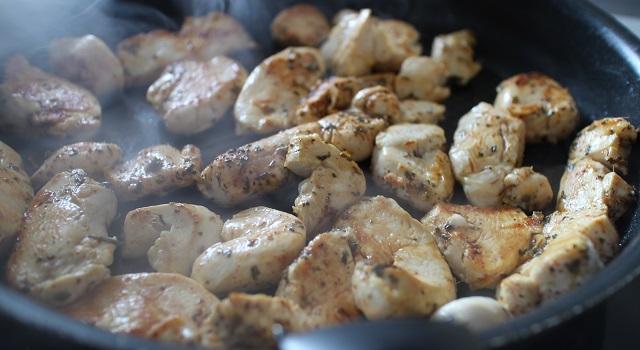 faire griller le poulet - Lasagnes blanches au poulet