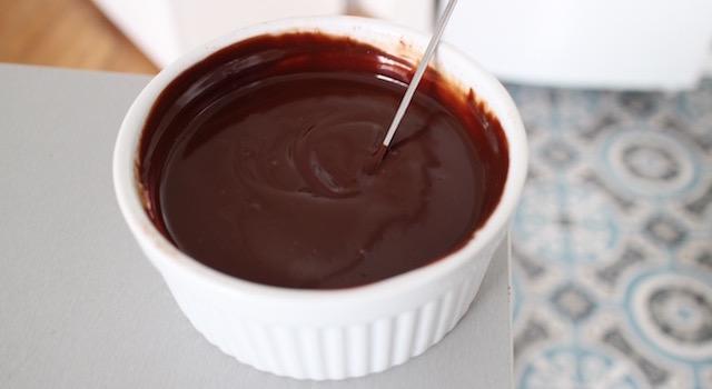 ganache lisse et brillante - Macarons au chocolat