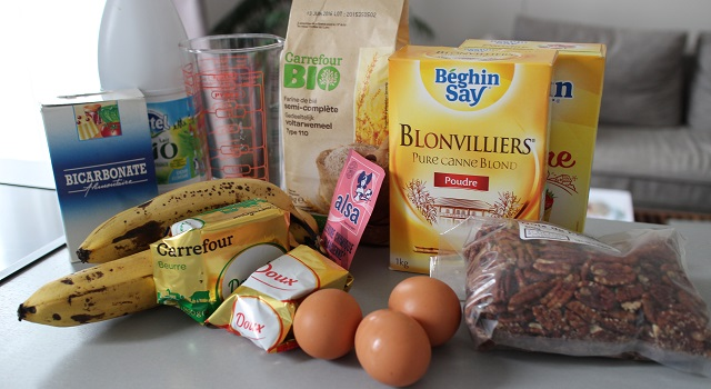 ingrédients Muffins banane pecan cœur caramel beurre salé