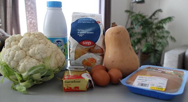 ingrédients des Lasagnes blanches au poulet