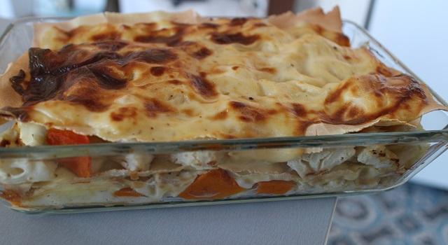 sortir les lasagnes quand elles sont bien dorées - Lasagnes blanches au poulet