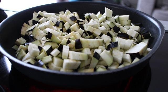 cuire les aubergines - Tabouleh de menthe fraîche