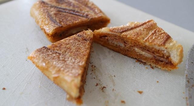 découper les panini en triangles - Panini tramezzini baguette