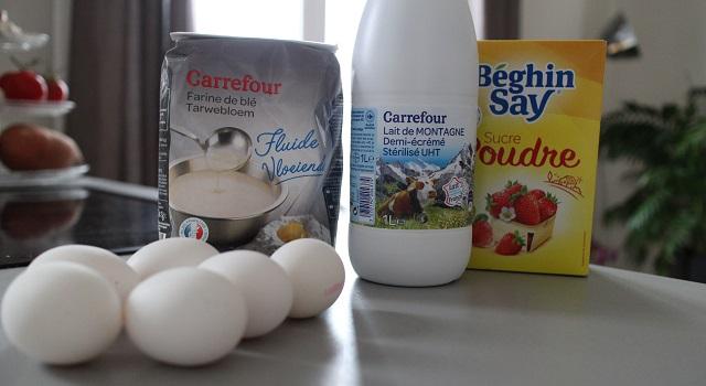 ingrédients Crêpes parfaites garanties sans grumeaux