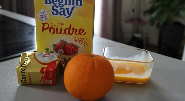 ingrédients Curd a l'orange
