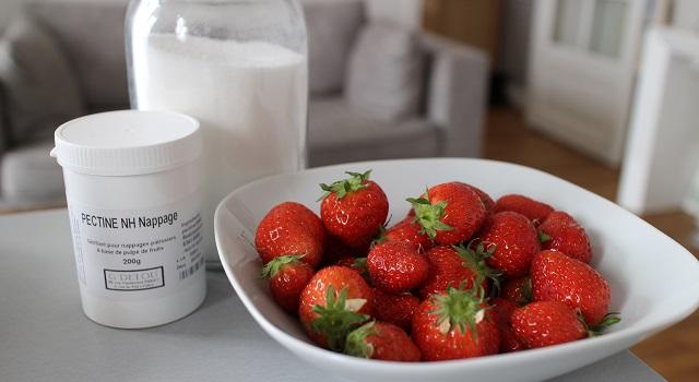 ingrédients des Macarons aux fraises fraîches