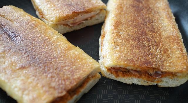 pain croustillant et doré - Panini tramezzini baguette