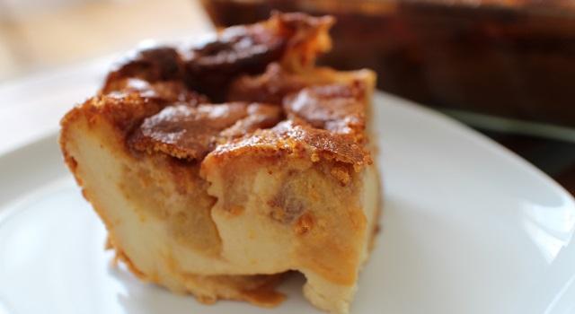 servir le far au gouter ou en dessert - Far 100 breton pommes caramélisées et caramel beurre salé