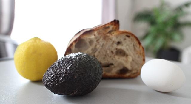 Ingrédients avocado toast parfait