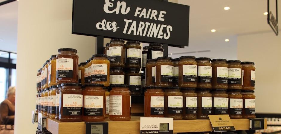 confitures et marmelades - Découverte la nouvelle grande épicerie de Paris
