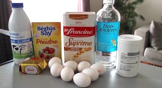 ingrédients Cannelés Pistache