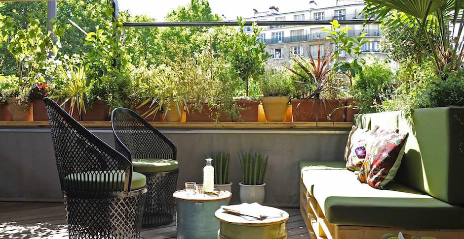 roof top - Restaurant Auteuil Brasserie mon QG de l'été
