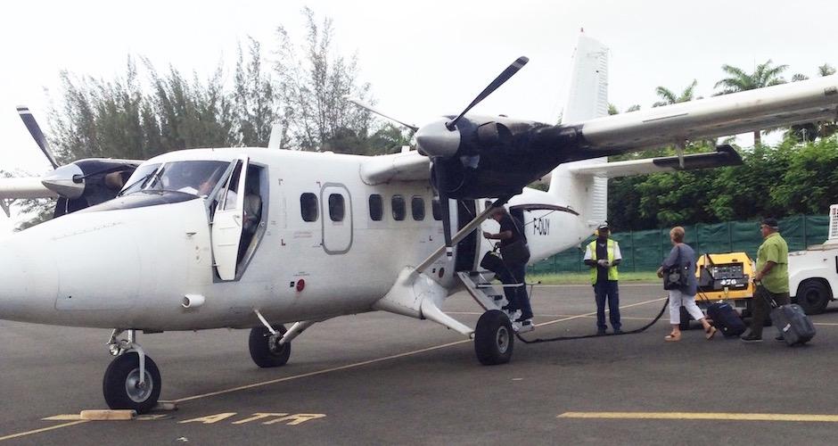 avion coucou minuscule - Voyage foodie à Saint Barth