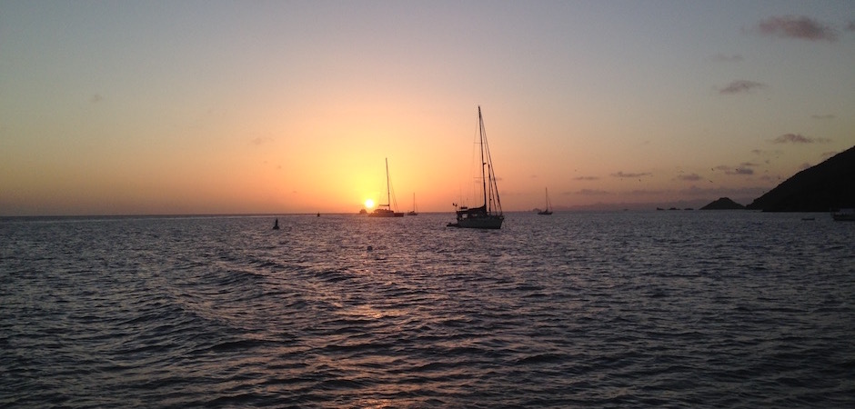 coucher de soleir corrosol - Voyage foodie à Saint Barth