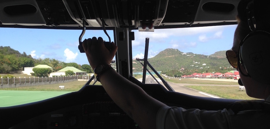 départ en avion de saint barth - Voyage foodie à Saint Barth