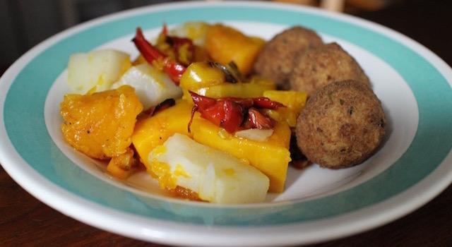 dresser l'assiette Saint Barth - salade créole