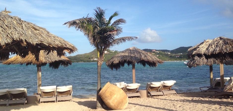 plage d'hôtel guanahani - Voyage foodie à Saint Barth