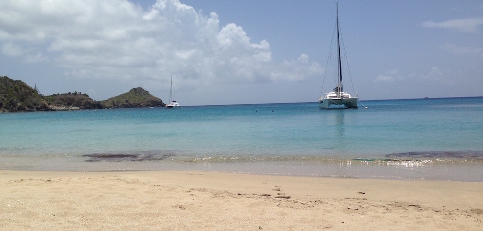 plage shell beach - Voyage foodie à Saint Barth