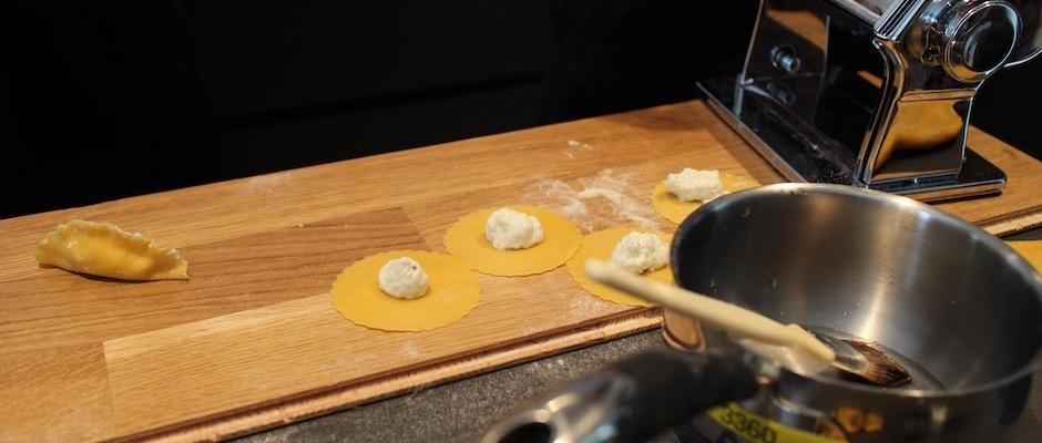 ravolis faits main - Parmesan jambon de Parme à l'Ambassade d'Italie