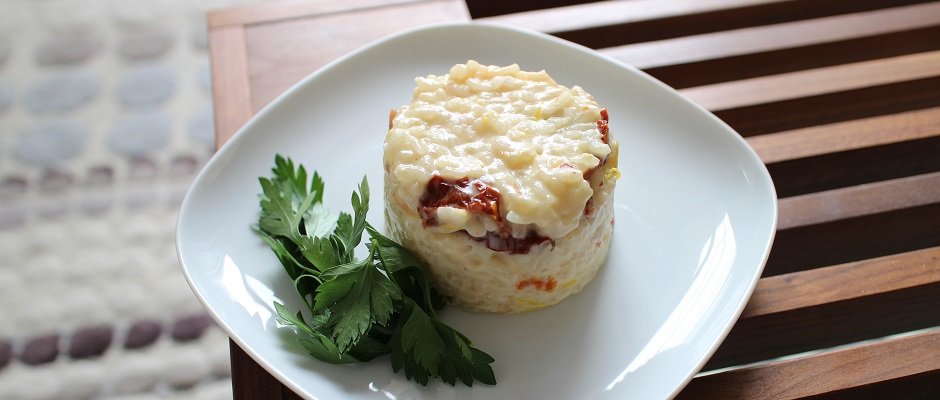 risotto estival ch vre frais citron tomate s ch e my beautiful dinner. Black Bedroom Furniture Sets. Home Design Ideas