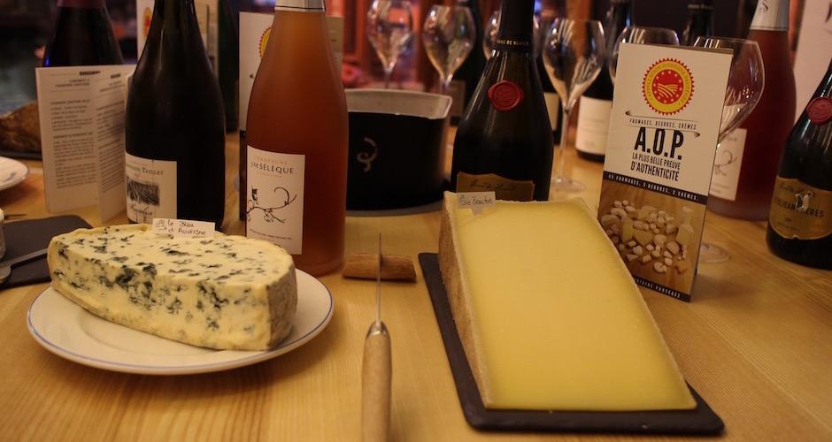 beaufort-bleu-dauvergne-degustation-de-fromages-aop-canard-et-champagne