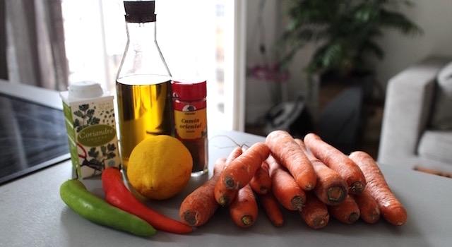 ingredients-salade-cuite-de-carottes-au-cumin