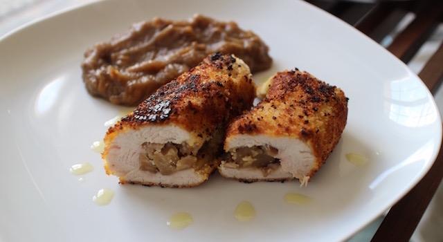servir-les-escalope-de-dinde-croustillante-aux-marrons