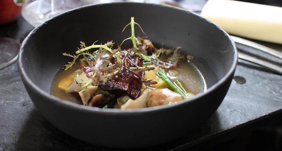 foie gras shitake - Restaurant Dessance - les fruits et légumes sont les stars
