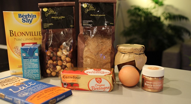 ingrédients tartelette-noisette-chocolat-au-lait