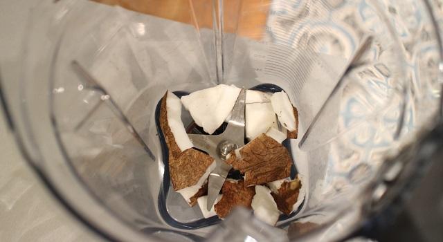 mixer la noix de coco - smoothie-coco-lait-damande