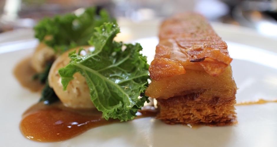 tatin de golden celeri - Restaurant Dessance - les fruits et légumes sont les stars