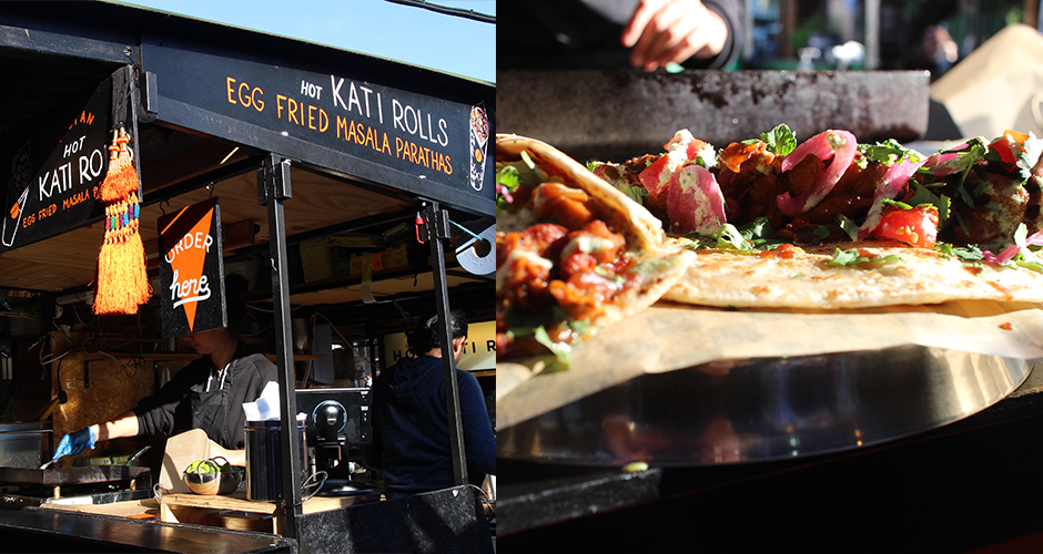 Kati roll - Camden street food market - London