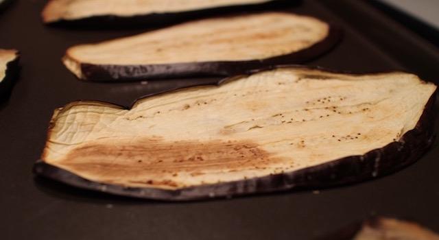 aubergines roties - Makis a l'italienne au jambon de parme
