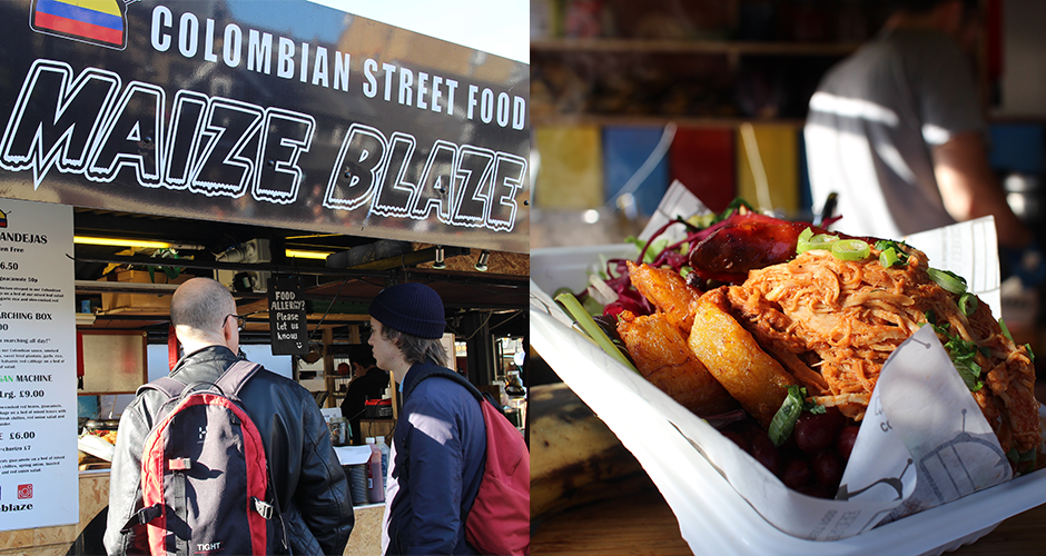 colombian - Camden street food market - London