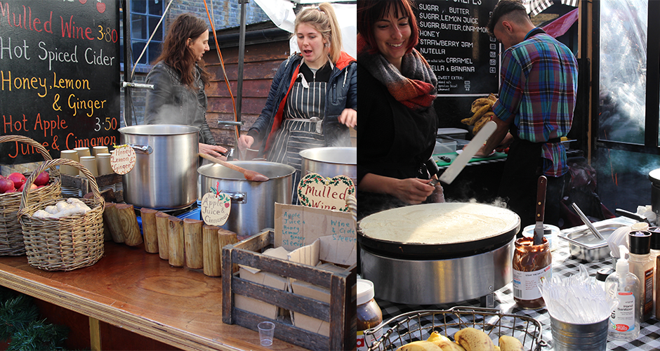 crepes et vin chaud - Camden street food market - London