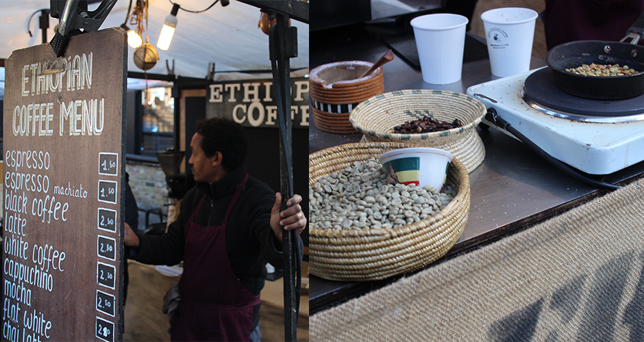 ethiopian coffee - Camden street food market - London
