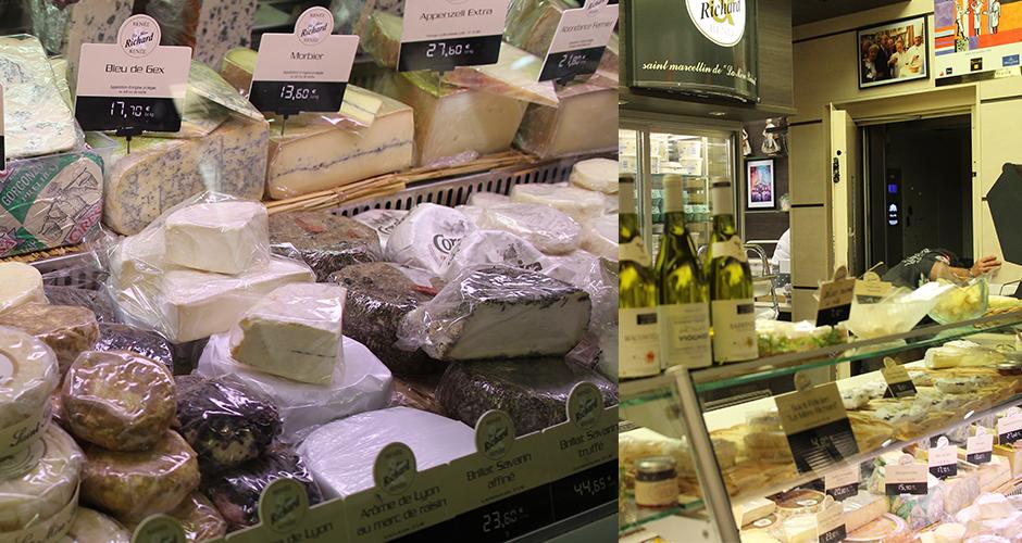 fromages de la mère Richard - Visite guidée des halles de Lyon Paul Bocuse