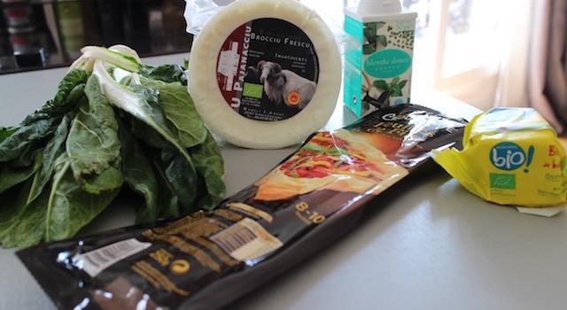 ingrédients - Boreks au brocciu et blettes