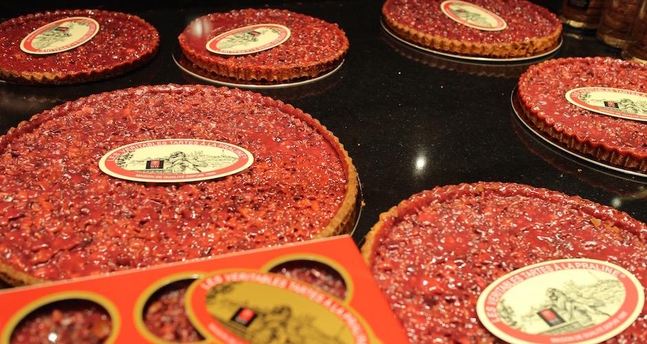 la tarte aux pralines de sève - Visite guidée des halles de Lyon Paul Bocuse