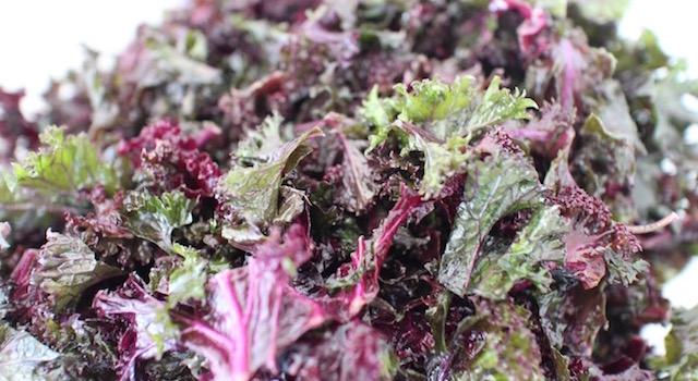 laisser le kale s'impregner de l'huile - Salade de kale aux harengs fumés