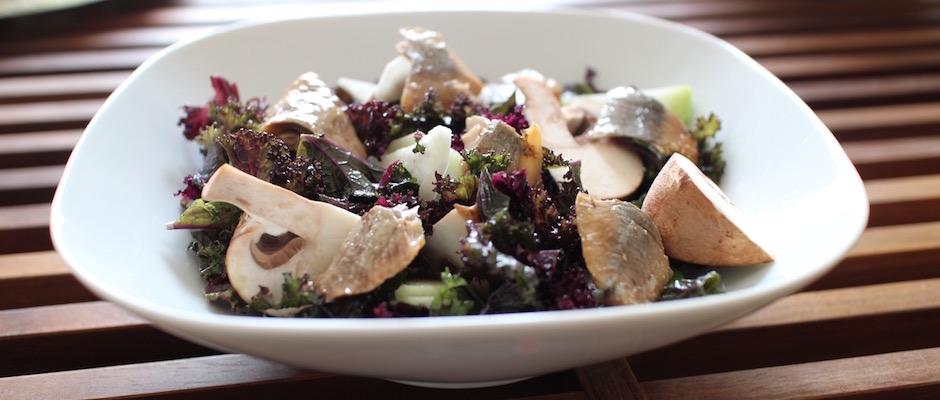 recette facile - Salade de kale aux harengs fumés