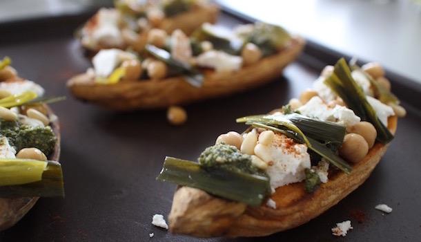 ajouter des légumes verts - Sexy Patate douce rôtie